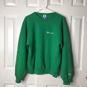 •Vintage Champion 90s Green Sweatshirt•